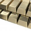Pile of golden bars, pyramid stack — Stock Photo #11250318