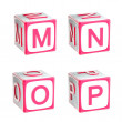 ABC: alphabet made of children playing cubes — Stock Photo #11250732