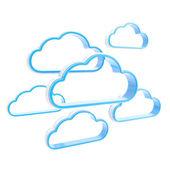 Ilustração do conceito de computação em nuvem — Foto Stock