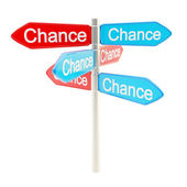 Chances are everywhere metaphor as signpost — Stock Photo