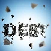 Debt pit abstract composition background — Stock Photo