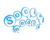 Social media icon shiny emblem isolated — Photo