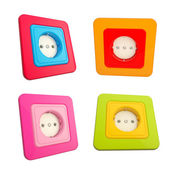 Colorful childish sockets set of four — Stock Photo