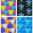 Foto de Stock  : Seamless abstract colorful background