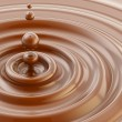 Brown liquid chocolate drop background — Stock Photo