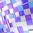 Abstract cube background techno wallpaper — Stock Photo