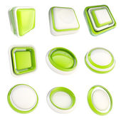 Set of plastic template buttons isolated — Stock Photo