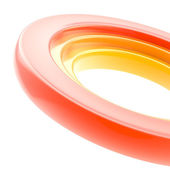 Abstract copyspace torus background — Stock Photo