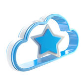 Favorite cloud technology icon isolated — Stock Photo