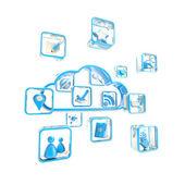 Icono de nube tecnología aplicación store — Foto de Stock
