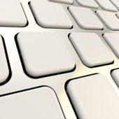 Keyboard close-up to empty copyspace keys — Stock Photo