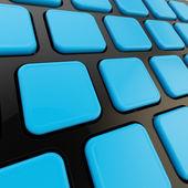 крупный план клавиатуры для пустых copyspace ключей — Стоковое фото