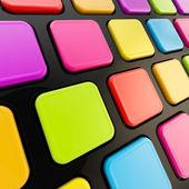Tastatur nahaufnahme mit leeren exemplar tasten — Stockfoto