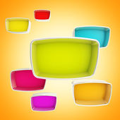 Colorful showcase boxes abstract background — Stock Photo