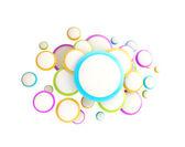 Copyspace cloud technology emblem — Stockfoto