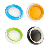 Set of glossy plastic buttons isolated — Stock Photo