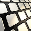 Keyboard close-up to empty copyspace keys - Stockfoto