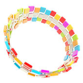 Circular copyspace frame made of cuboids — Stock Photo