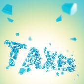 作品の背景に壊れた単語の税金 — ストック写真
