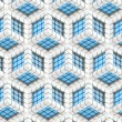 Seamless hexagon cube background texture — Stock Photo