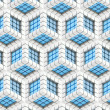 Seamless hexagon cube background texture — Stock Photo #11405157