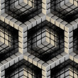 Seamless hexagon cube background texture — Foto Stock