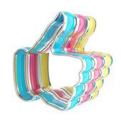 Como icono emblema brillante de color cmyk — Foto de Stock