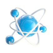 Atomic structure science emblem isolated — Stock Photo