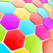 Abstract hexagon shape background — Stock Photo