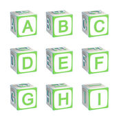 ABC: alphabet made of children playing cubes — Stock Photo