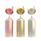 Metallic colors spray oil cylinders isolated — Stock Photo