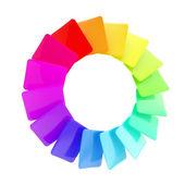 Circular spectrum range palette of cards — Stock Photo