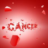 Luchar contra el cáncer, la palabra roto en pedazos — Foto de Stock