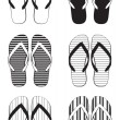 Flip flop collection - Stockvectorbeeld