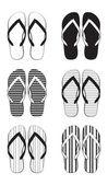 Flip flop coleção — Vetorial Stock