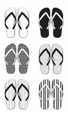 Flip flop collection — Stockvektor