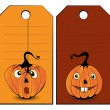 Collection of halloween banners — Stock Vector
