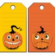 Stock Vector: Collection of halloween banners