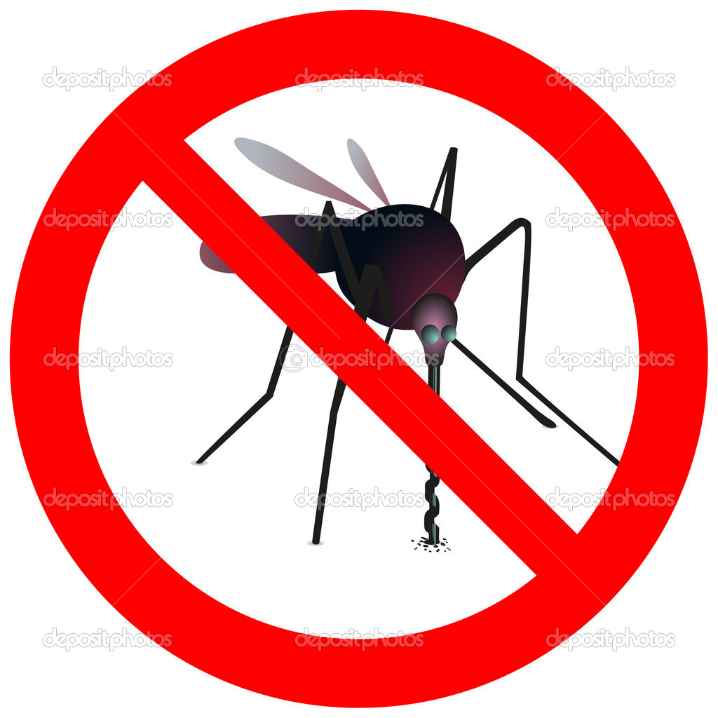 Prohibitory sign with mosquito — Stock Vector #11322877