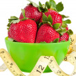Strawberries and Measuring Tape — Stock Photo