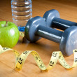 Stock Photo: Exercise and Healthy Diet