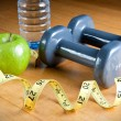Exercise and Healthy Diet - Stock Photo