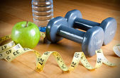 Exercise and Healthy Diet — Stock Photo