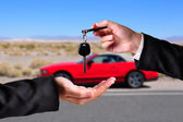 Handing over the keys — Stock Photo