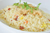 Fried rice on white — Stock Photo