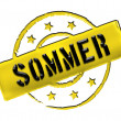 Stamp - SOMMER — Stock Photo