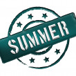 Stamp - SUMMER — Stock Photo