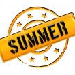 Stamp - SUMMER — Foto Stock