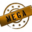 Stamp - MEGA — Stock Photo