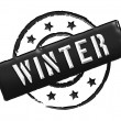 Stamp - WINTER — Stock Photo